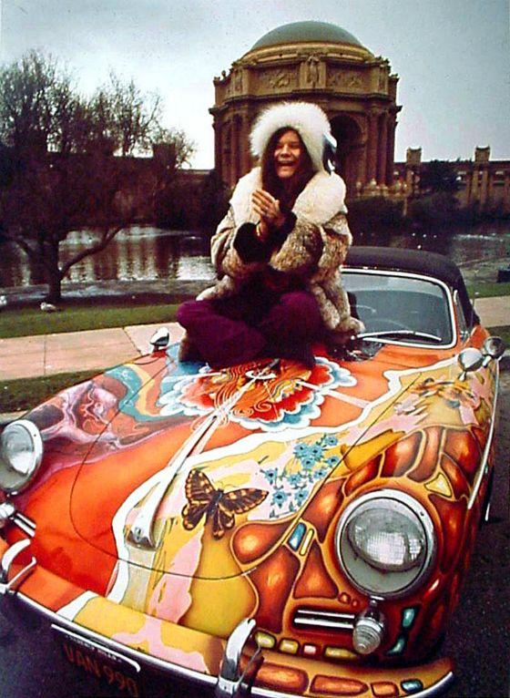 La Porsche psychédélique de Janis Joplin aux enchères   GQ