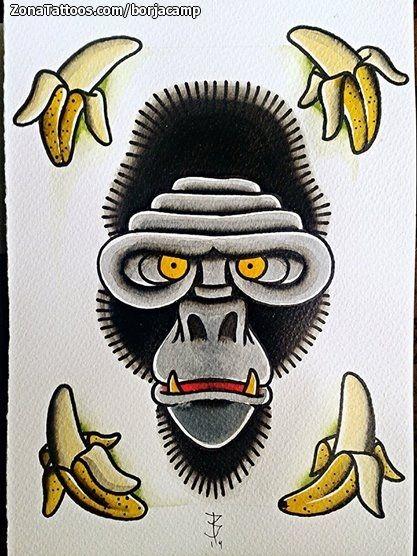 Diseño/Plantilla tatuaje Monos