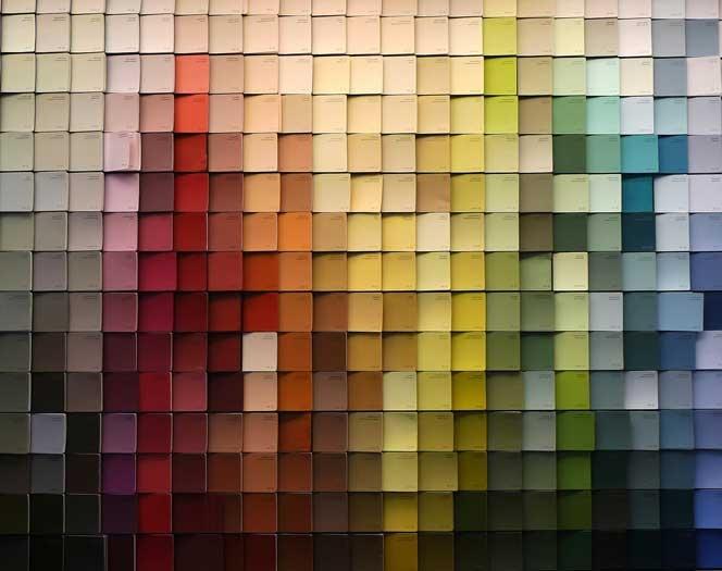 Paint Chip Wall Art Diy Coulda Shoulda Woulda Pinterest