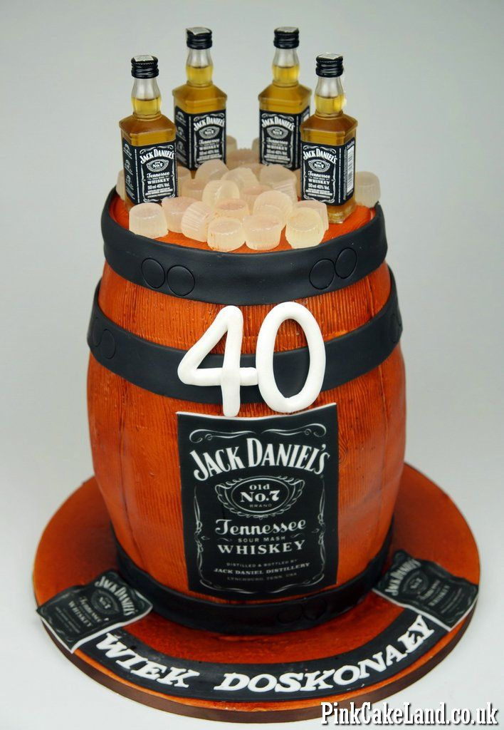 Jack Daniel's Barrel Cake in London #jack #daniels #cake #london http://www.pinkcakeland.co.uk