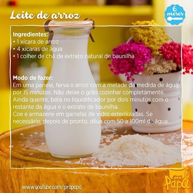 Segue a receita do programa dessa semana. Bem simples, barata e com ingredientes que você tem em casa. #receitadasemana #leitedearoz #leitevegetal