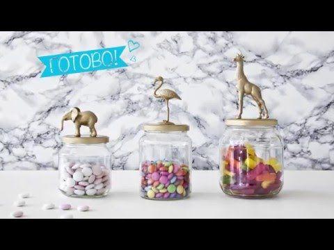 Банки для конфет с золотыми крышками (DIY) | Идеи от WESTWING - YouTube
