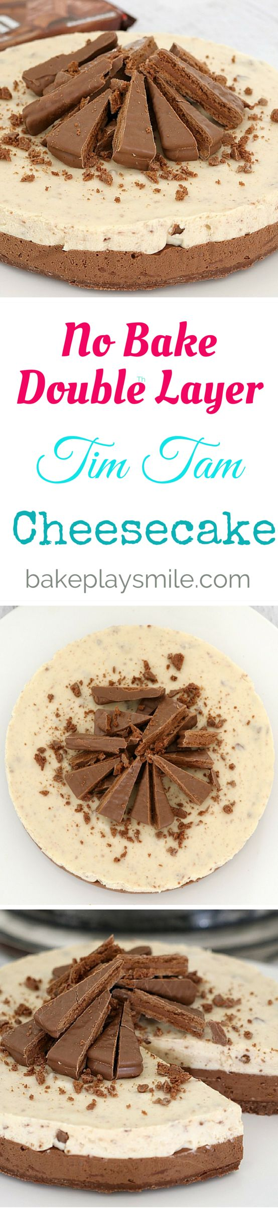 It doesn't get any more delicious than this No-Bake Double Layer Tim Tam Cheesecake! With a Tim Tam base, milk and white chocolate layers…