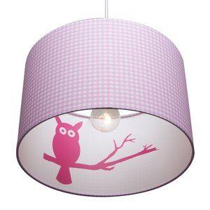 Little Dutch Roze Uil Lamp voor in de Babykamer. Lieve Silhouet Lamp met Uiltje. - Dreumesenzo.nl