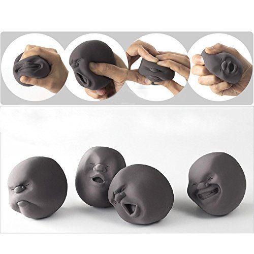 EQLEF® 1pcs drôle de nouveauté japonaise Cadeau Gadgets Vent humain Visage Balle Anti Stress Scented Caomaru Toy Geek Gadget Vent Toy:…