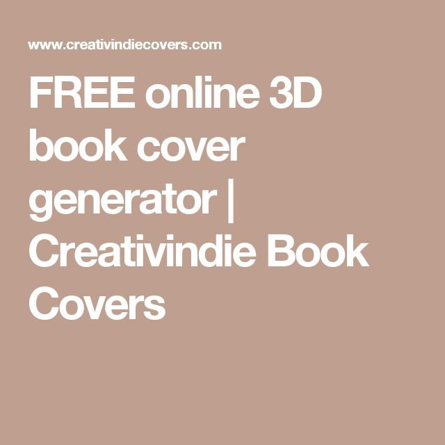 FREE online 3D book cover generator | Creativindie Book Covers