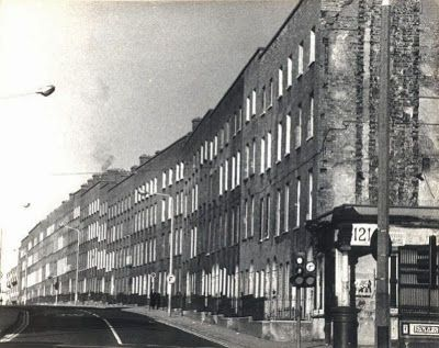 The 'Tall Houses' of Summerhill Parade, Dublin, all demolished in the 1980s by Dublin Corporation.