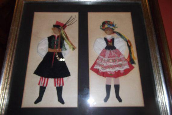 framed  folk   dress    made  in Poland by pgriff on Etsy, $25.00