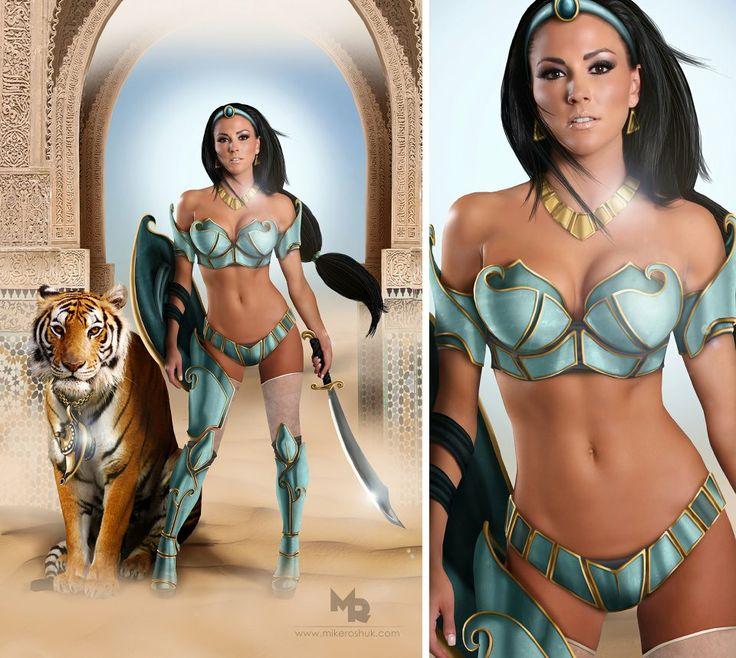 Disney Warrior Princess Themed PhotoshootCosplay Com, Awesome Cosplay, Warriors Princesses, Disney Princesses, Princesses Jasmine, Disney Inspiration, Cosplay Iii, Holy Jasmine, Disney Warriors