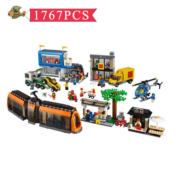 Model Building Blocks Toy City Science and Technology City Scene Assembled set DIY Classic Children Building Bricks Toys Gift