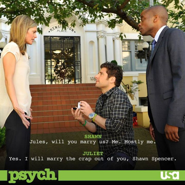 <3:~ One of Our Favorite TV Shows of All Time <~> PSYCH, Is Ending The Series With Our Wish Come True <~> As Shawn Proposes to Juliet, We Could Not Have Written It Better !! ~:<3