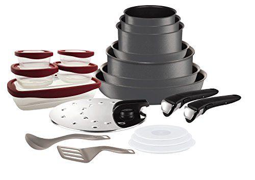 Tefal L6589903 Set de poêles et casseroles – Ingenio 5 Performance Gris 20 Pièces – Tous feux dont induction: Composition du Set: Casserole…