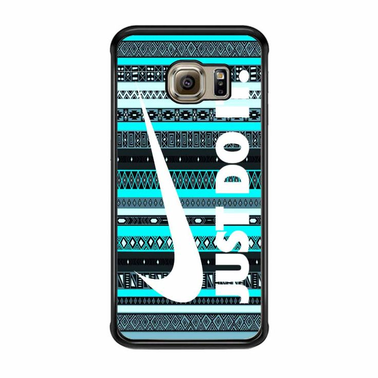 Nike Aztec Mint Black Just Do It New Samsung Galaxy S6 Edge Case