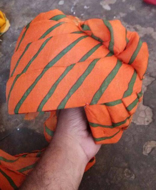 Rajasthani Kesriya Safa Turban Headwear Hat Cap Ethnic Pagri for Men /Turban /Kesriya-Green safa / Free Shipping by pinkcityhandmade on Etsy