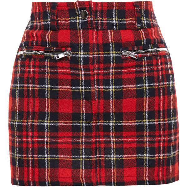 FILLES A PAPA Tartan Wool Mini Skirt ($335) ❤ liked on Polyvore featuring skirts, mini skirts, bottoms, faldas, gonne, red wool skirt, plaid miniskirt, short red skirt, short mini skirts and wool skirt