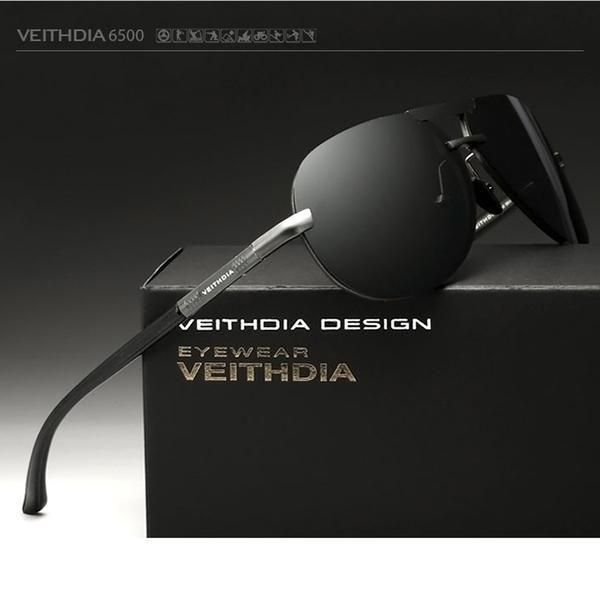 VEITHDIA 2017 Aluminum Alloy Frame HD Sunglasses Polarized Men Lens Driving Sun Glasses Male Eyewears Accessories For Men 6500