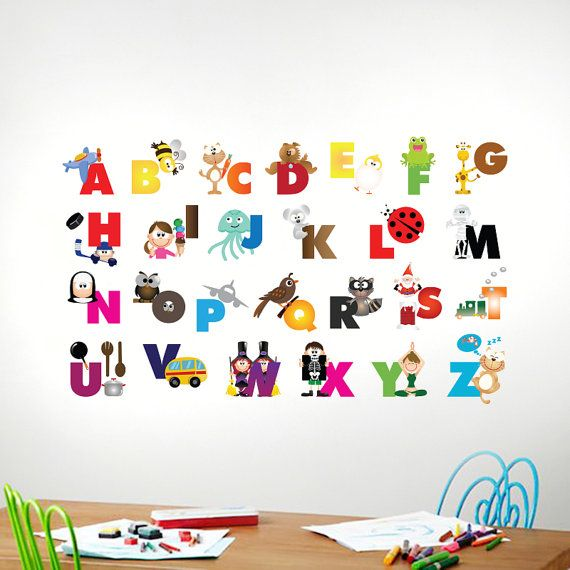 Alphabet Wall Decal Alphabet Decal Animal By Justforyoudecals, $64.00