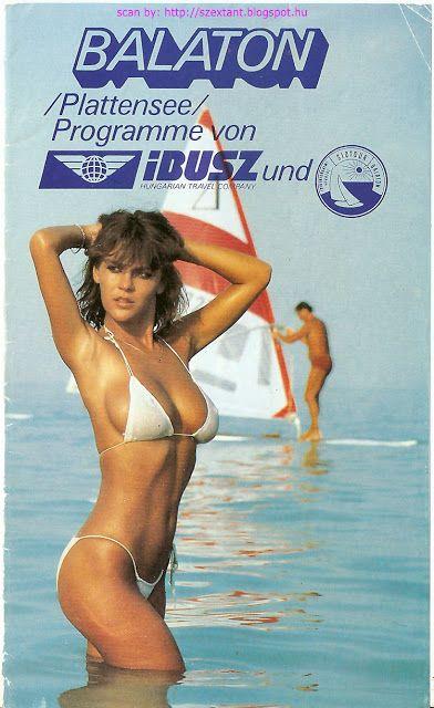 advert of IBUSz Rt. (Idegenforgalmi, Beszerzési, Utazási és Szállítási Zártkörűen Működő Részvénytársaság) - Travel Office - Plattensee Balaton programme. 1980's