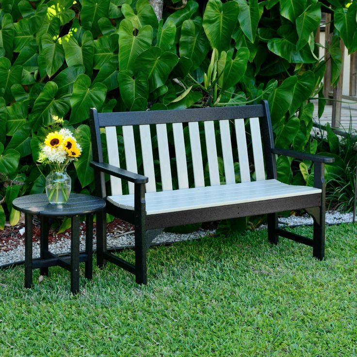 poly furniture outdoor benches polywood glider wood bench chippendale