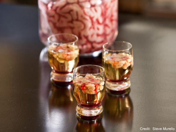 Halloween Food & Drink : Bloody Brain Shooters! Description from pinterest.com. I searched for this on bing.com/images