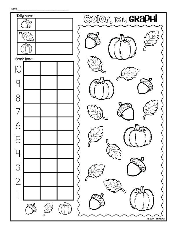 Print and Go! Apples, Pumpkins, & Leaves Fall Math and