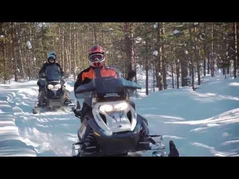 Snowmobile in Rovaniemi with Arctic Circle Snowmobile Park in Santa Claus Village