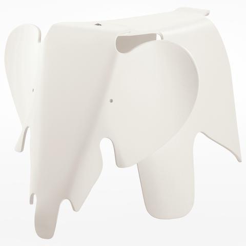 Eames Elephant Eames, Vitra furniture, White stool