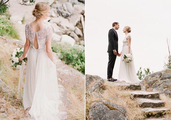 Marchesa wedding dress | photo by Gucio Photography | 100 Layer Cake