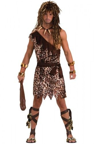 Caveman Mens Costume is perfect for a caveman costume! Buy a leopard costume and get a matching cavewoman costume too.