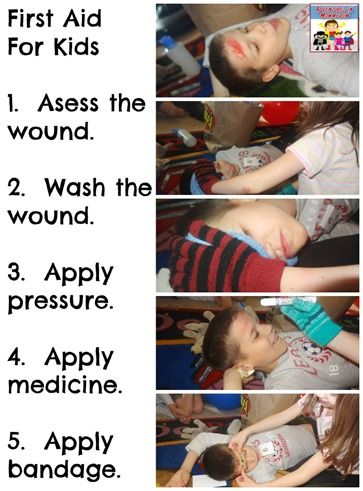 Here's some beginning ideas to teach first aid to kids.