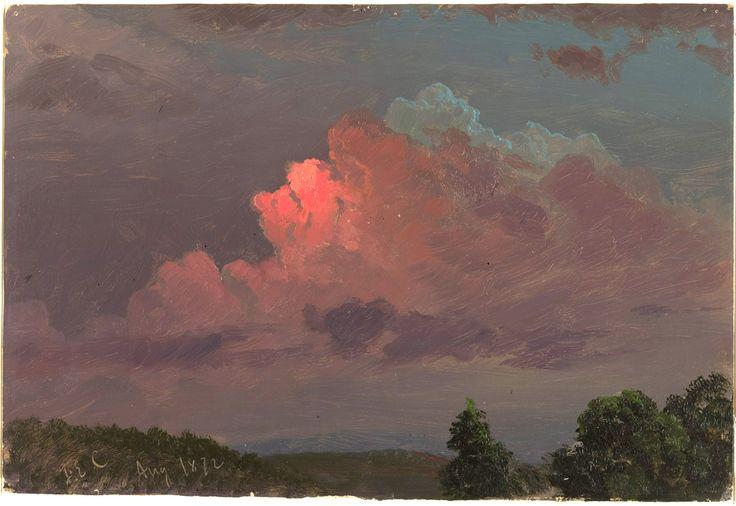 """Study. Sky after sunset."", August 1872 - Hudson River School."