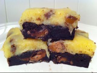 Mars brownies med kolakräm