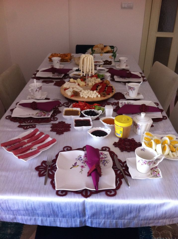 Zeynep'in kahvaltı sofrası