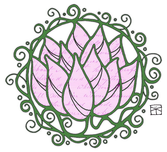 Lotus Mandala | with color by renmeleon, via Flickr