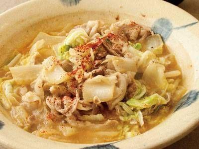 白菜と豚バラ肉のにんにくみそ鍋レシピ 講師は枝元 なほみさん 使える料理レシピ集 みんなのきょうの料理 NHKエデュケーショナル