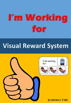 """Reward system -  for students with AutismVisual Reinforcement for students with Autism.A powerful method of strengthening new skills and behaviours, The tokens are a way of paying children for completing tasks and then they can be used to trade for desired activities or items they choose.I've created 4 different levels of """"working for"""" cards in both black and white and colour."""