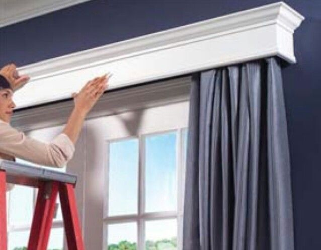 Curtain rod covers fast and easy