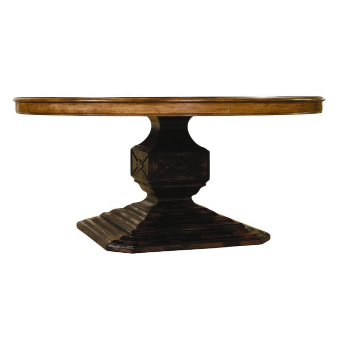 """$1,120.95  Too bad a round table won't fit in our dining room.  65"""" diameter  Sanctuary Truro Dining Table - Hooker on Joss and MainDining Room, Hooker Events, Truro Dining, Joss And Maine, Diameter Sanctuary, Pedestal, Sanctuary Truro, Dining Tables, House Decor"""