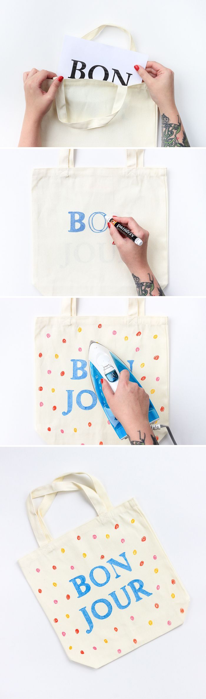 Learn to make this washable market tote in only 30 minutes! Use Painters paint markers to decorate a plain bag and set it with an iron for a custom, DIY tote that fits your style.