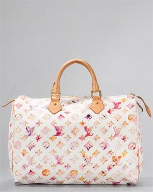 Louis Vuitton Richard Prince Aquarelle Watercolor Speedy 35 White Bag
