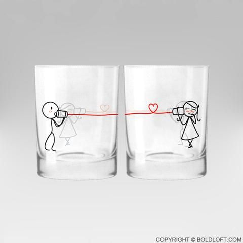 Say I Love You™ Drinking Glass Set