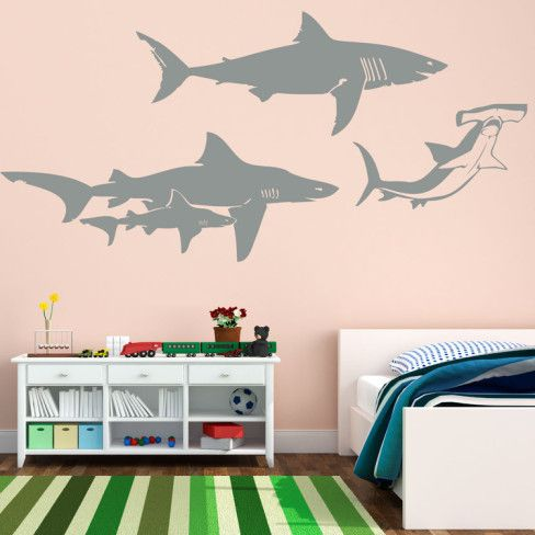 Shark Family Wall Decal at AllPosters.com