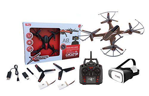 Drone radiocontrol con camara A8 Wifi FPV + Gafas VR. Pilota como si estuvieras dentro del drone. 2 baterias incluidas - http://www.midronepro.com/producto/drone-radiocontrol-con-camara-a8-wifi-fpv-gafas-vr-pilota-como-si-estuvieras-dentro-del-drone-2-baterias-incluidas/