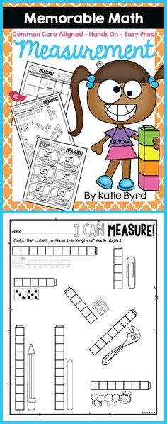 Make math memorable for your students and easy for you!  This pack has lots of recording sheets for common core aligned hands-on measurement activities.  Perfect supplement for a measurement unit in any kindergarten or first grade classroom.  Just gather some common classroom items, print and go!  Made to save your ink and time. Happy teaching! $
