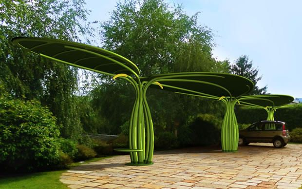 solar tree carport - Google Search