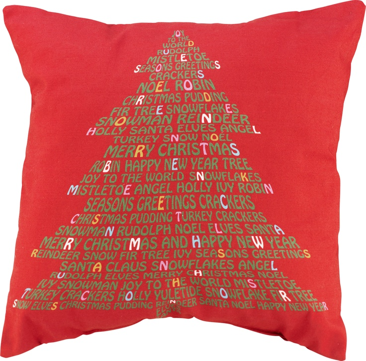 """What says """"It's Christmas!"""" more than this red Christmas Tree cushion from #Argos? Match with our other Christmas cushions to dot around the house for a real festive look. #ArgosPerfectChristmas"""