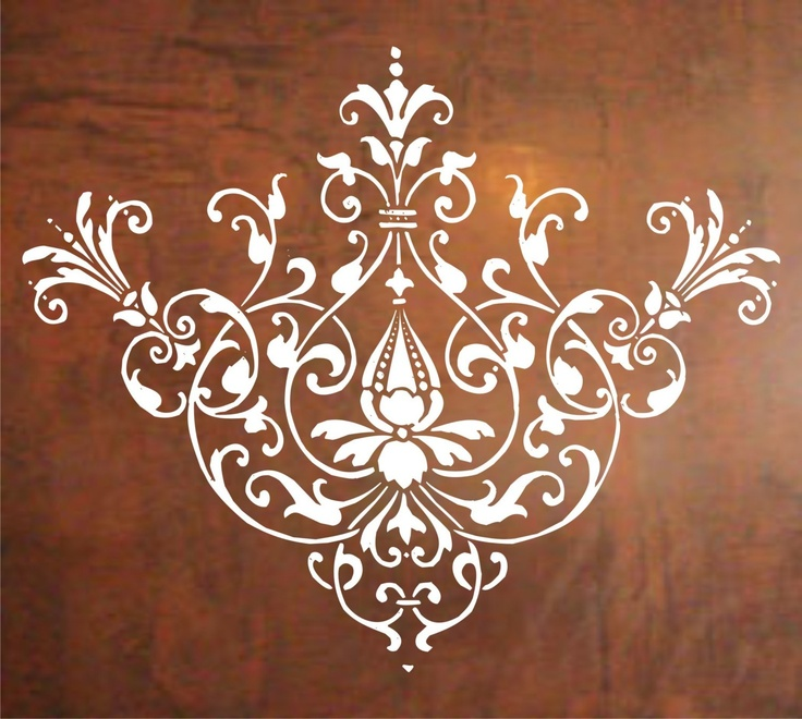 Baroque Design Wall Decal Sticker Graphic Mural Design Modern Art. $24.00, via Etsy.