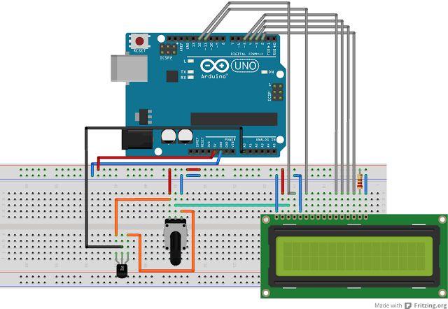 Tutorial - LCD + Sensor de Temperatura (Termómetro de ambiente)