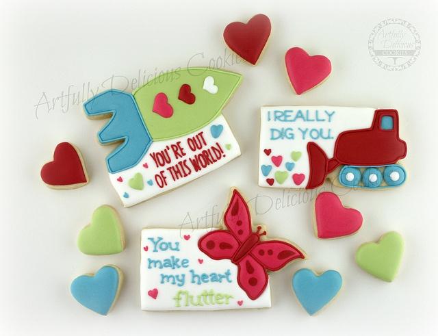 Valentine's 2013 by Artfully Delicious Cookies, via Flickr