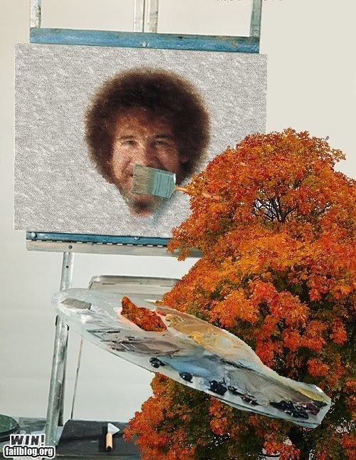 Role Reversal WIN!!: Bobross, Remember This, Bobs Ross, Bob Ross, Parallel Univ, Funny, Trees Paintings, Faceswap, Faces Swap